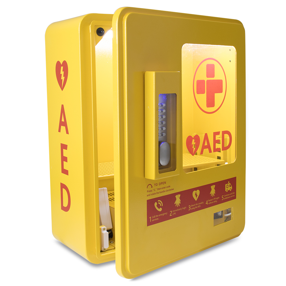 Heated Outdoor AED Cabine