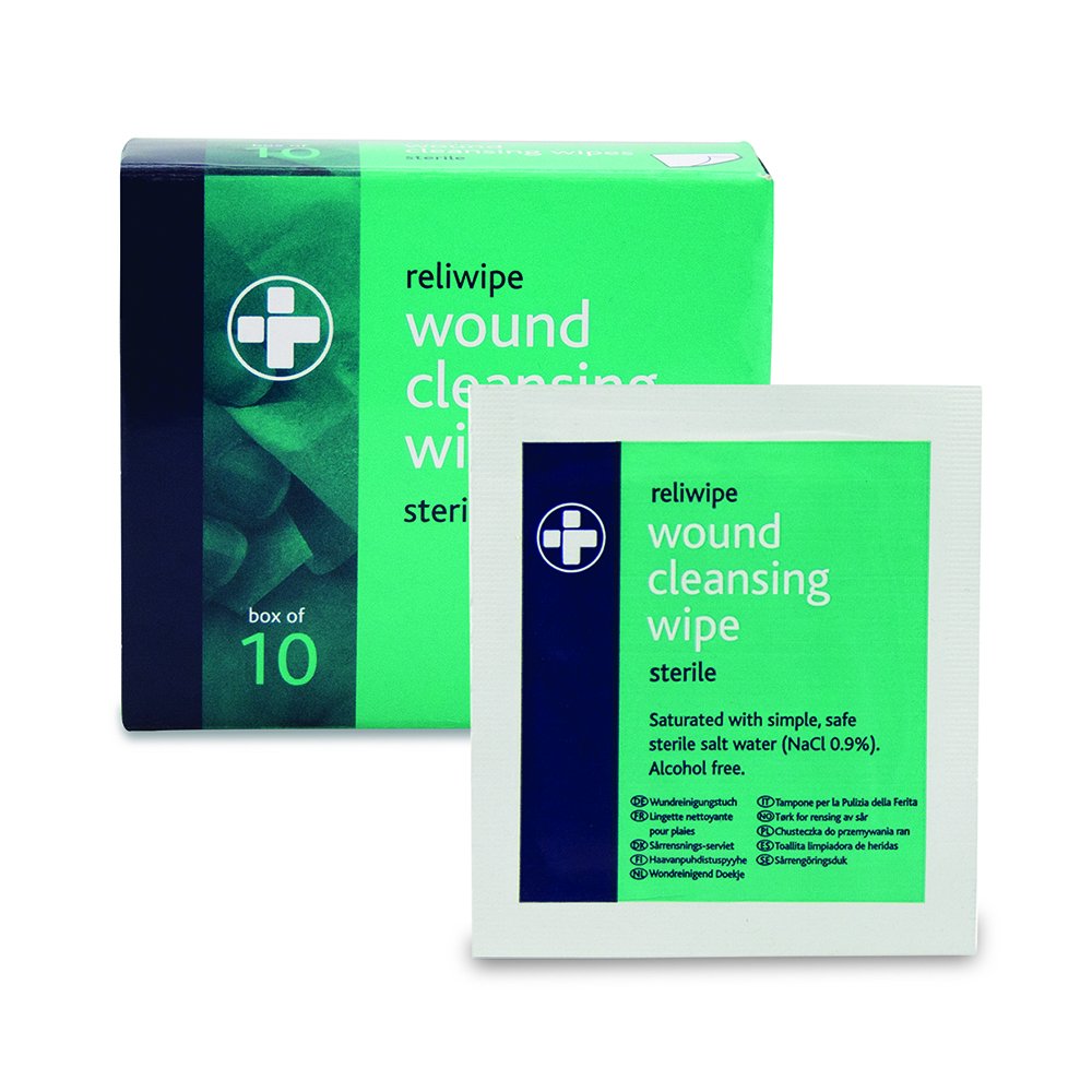 Reliwipe Wound Cleansing Wipes Sterile
