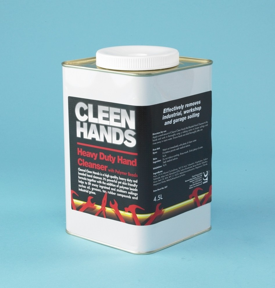Cleen Hands Heavy Duty Hand Cleanser (red Beaded) - 4 x 4.5 Litr